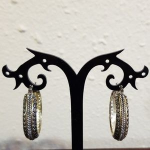 """one pair of Gold and Silver 1 1/4"""" Earring"""